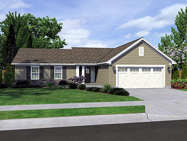 Ranch Style Plan With 1278 Sq Ft, 3