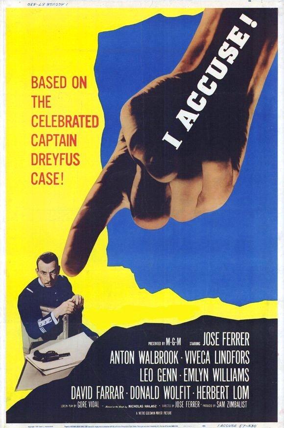 L'affaire Dreyfus (film, 1958) : l'affaire, dreyfus, (film,, 1958), Affiche, L'affaire, Dreyfus