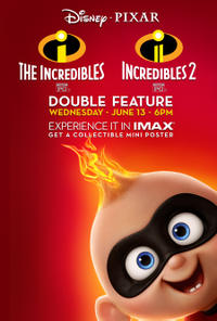 incredibles double feature times