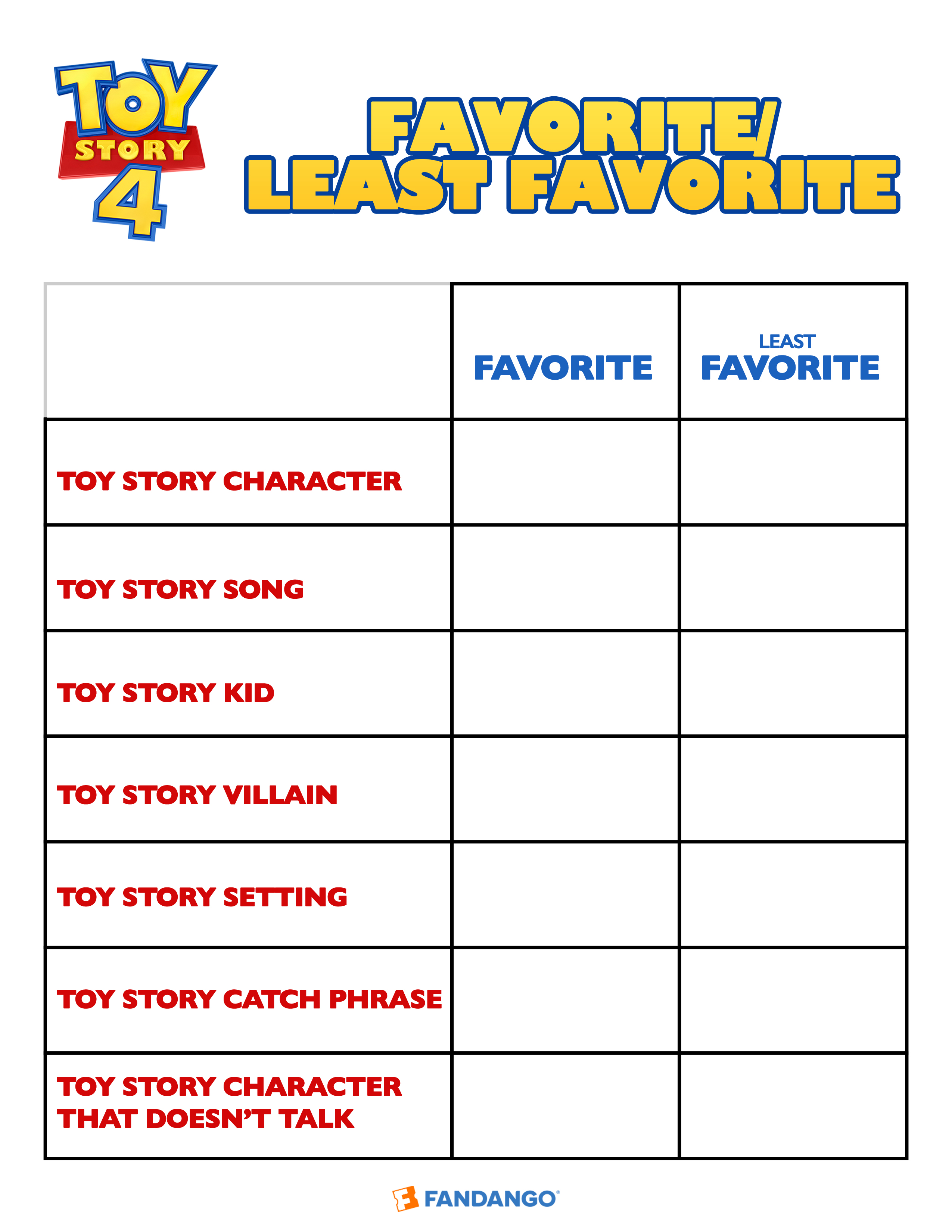 Get Creative With Toy Story 4 Activity Sheets