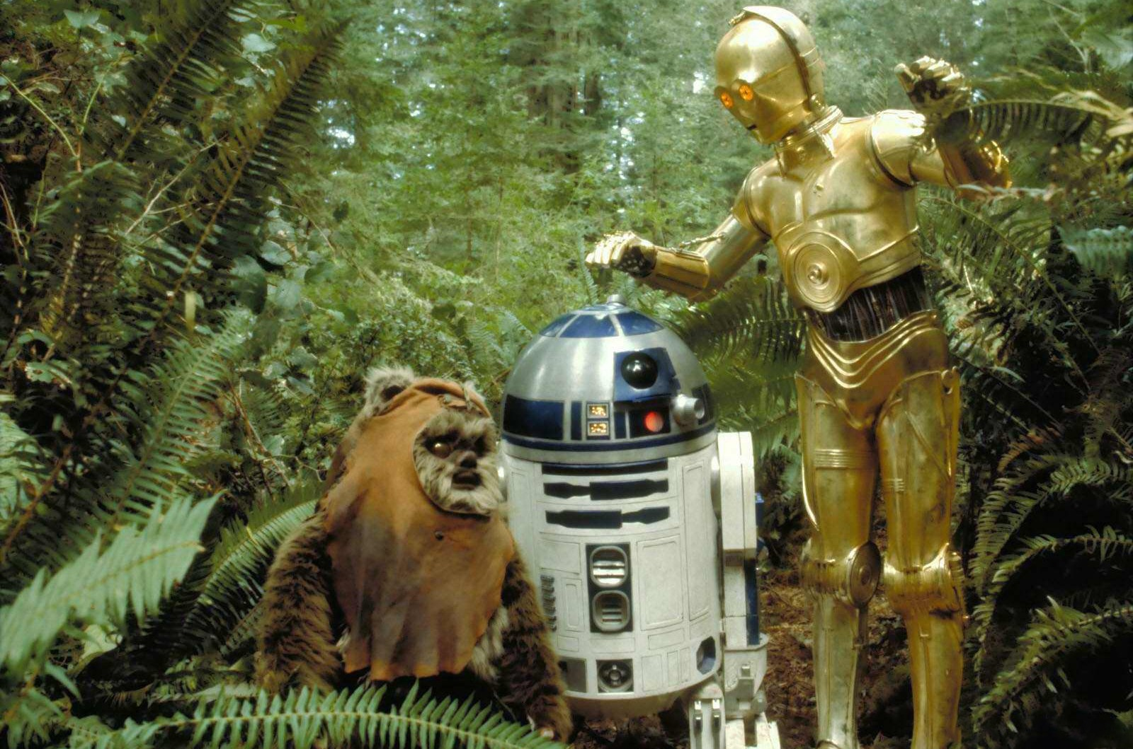 Wicket the Ewok, Artoo Detoo R2 D2, See Threepio C-3PO, Return of the Jedi