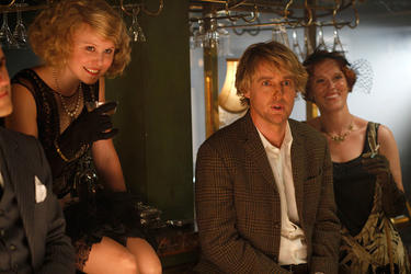 "Alison Pill as Zelda Fitzgerald and Owen Wilson as Gil in ""Midnight in Paris."""