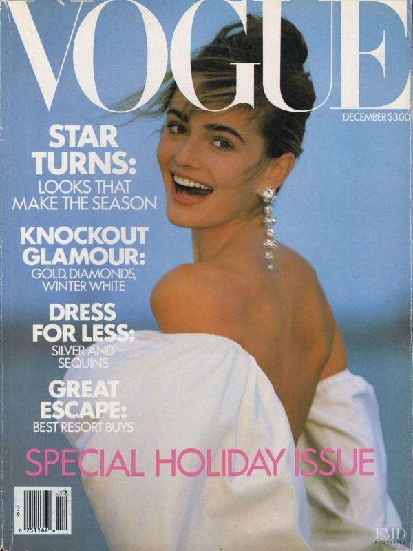 Cover of Vogue USA with Paulina Porizkova December 1989