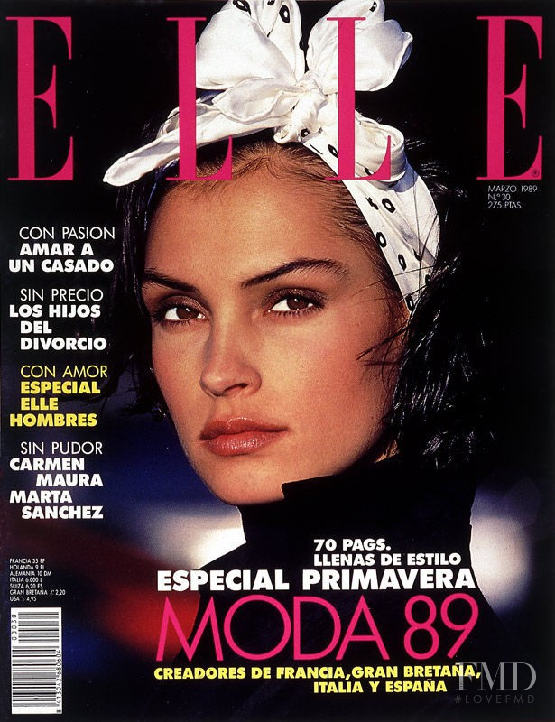 Famke Janssen on the cover of Elle Spain, March 1989