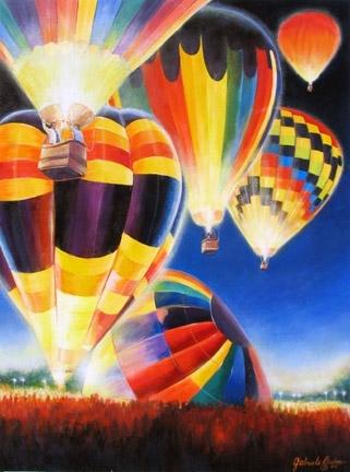 Balloon Glow by gabriele baber Acrylic ~ 18 x 24