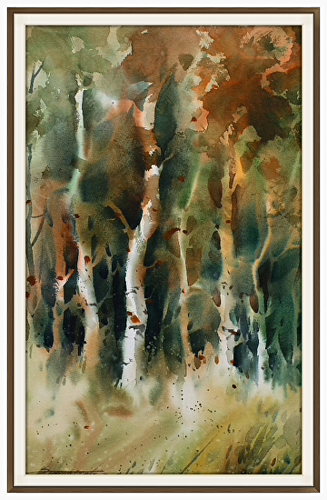 Nearing Autumn by sterling edwards Watercolor ~ 22 x 15