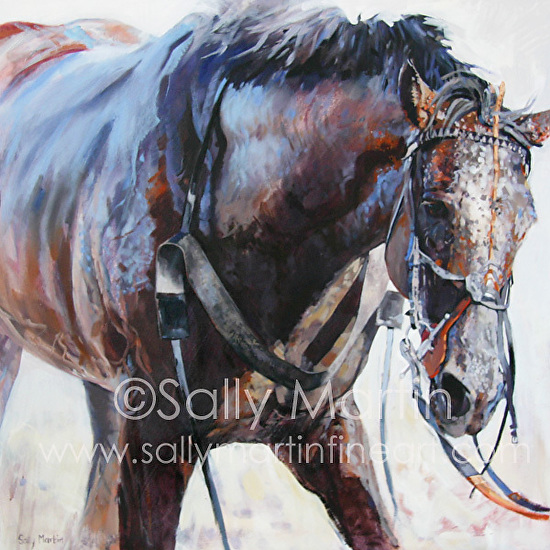 Mud & Sweat by Sally Martin Mixed Media ~ 32inch x 32inch