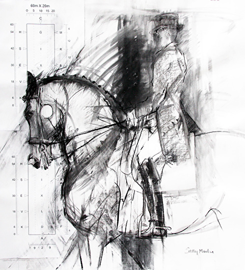 Arena Monochrome by Sally Martin  ~ 39.5inch x 33.75inch