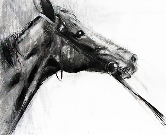 Glance Monochrome by Sally Martin Mixed Media ~ 33inch x 40.5inch