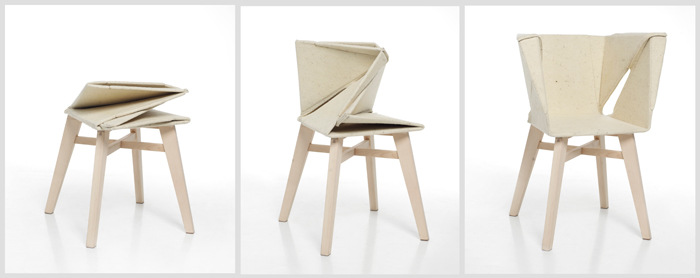 A Folding Felt Chair Inspired By Old Serbian Textiles