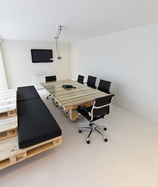 An Office Made of Pallets Packs a Recycled Punch  Co