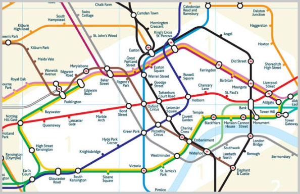 Updated London Tube map