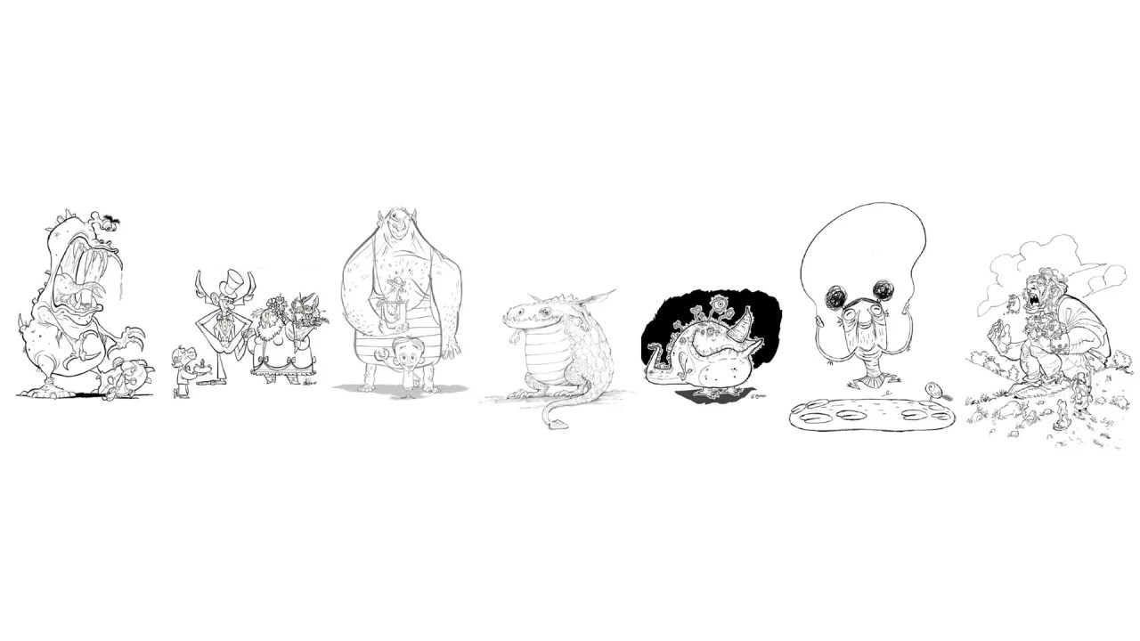 A Dream Team Of Animators Creates The Ultimate Coloring Book