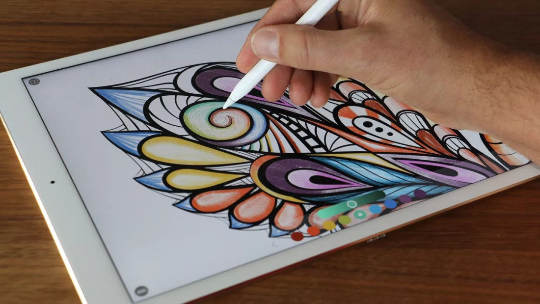 this adult coloring book app will help you stay relaxed and