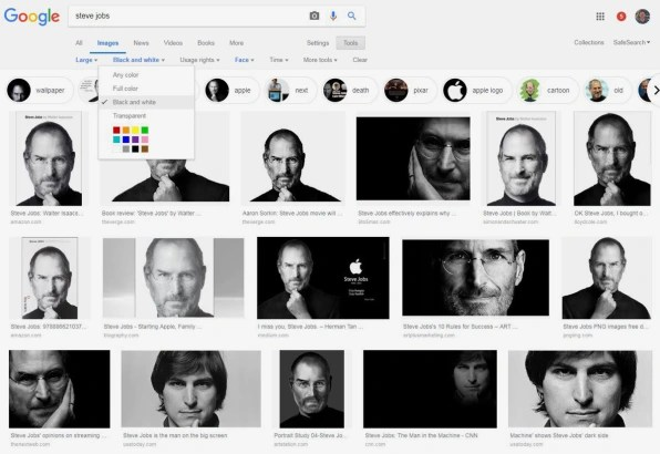 Filter your image search to find exactly the type of result you need.
