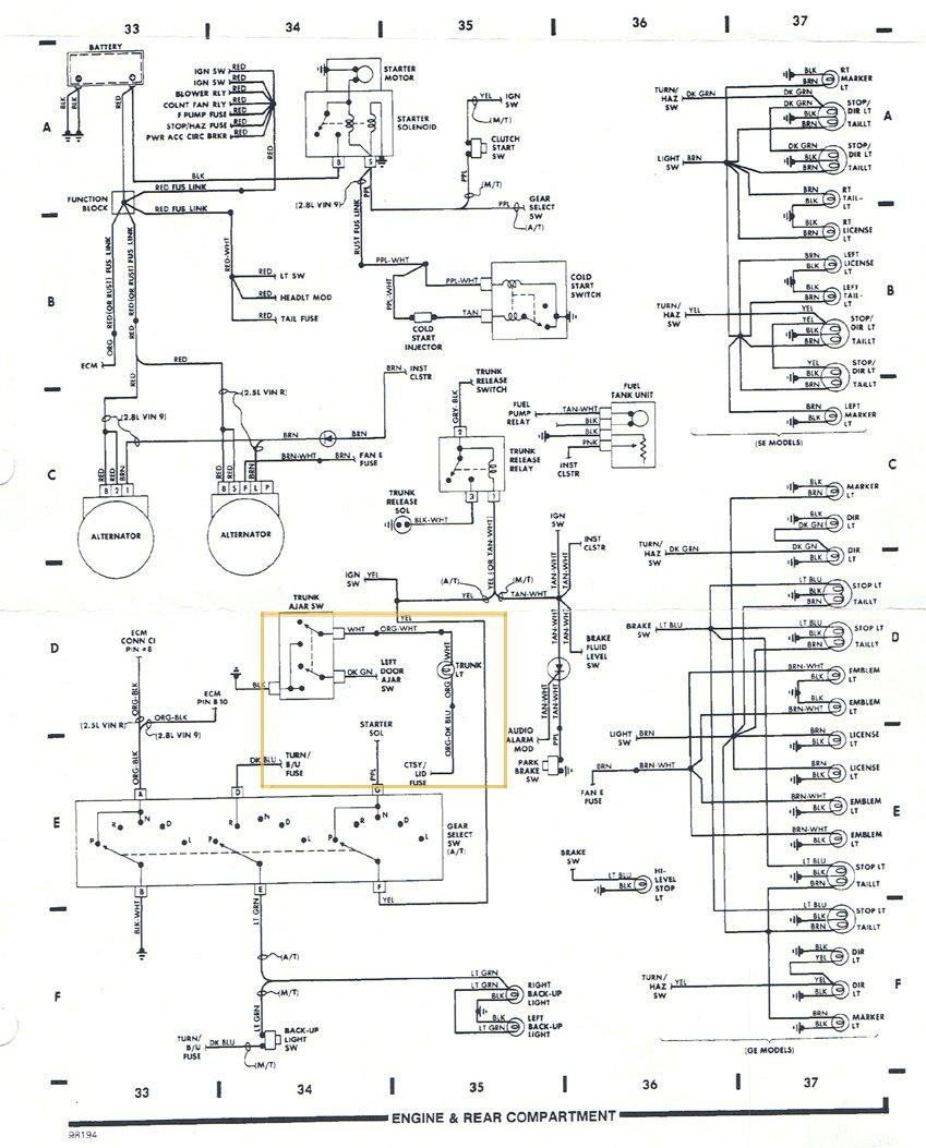 Radeo For 1984 Pontiac Fiero Fuse Box Pennock S Fiero Forum Wire Diagram For 87 Rear By