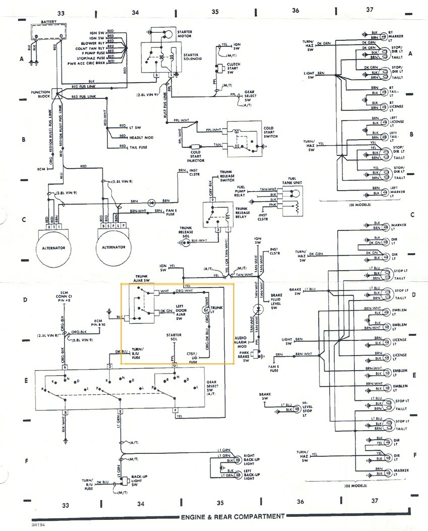 Pontiac Fiero Wiring Diagram - Lir Wiring 101 on camaro wiring, ford wiring, malibu wiring,