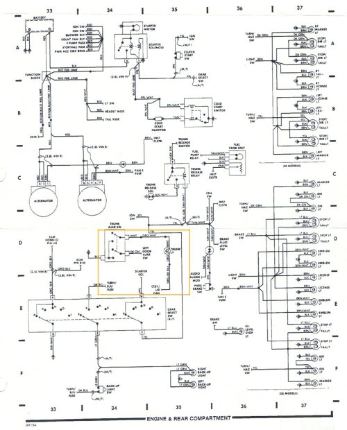 small resolution of pontiac fiero headlight wiring diagram wiring diagram third level 1988 buick lesabre wiring diagram 1988 pontiac fiero wiring diagram