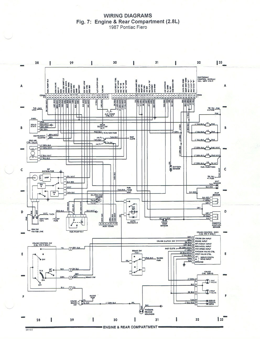 hight resolution of 1987 pontiac fiero fuse box data wiring diagram 1988 ford pickup wiring diagram 1988 pontiac fiero wiring diagram