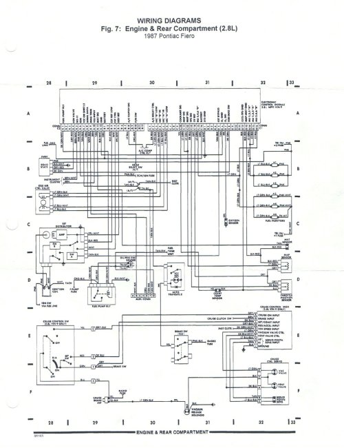small resolution of 1987 pontiac fiero fuse box data wiring diagram 1988 ford pickup wiring diagram 1988 pontiac fiero wiring diagram