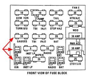 1985 Pontiac Fuse Box  Easytoread Wiring Diagrams