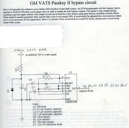 vats wiring diagram 1994 vr bypassing bcm memcal no vats just - pass key ii  wiring