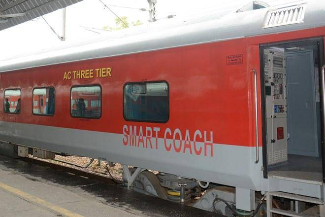 "Indian Railways rolls out its first ""SMART"" coach, including"