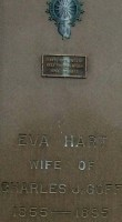 Memorial of Mr. & Mrs. Charles J. Goff with inscription for Eva Hart Goff