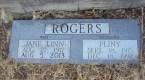 Grave marker inscription for Jane Linn Osborn Rogers