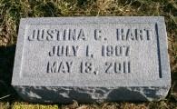Headstone of Justina Carskadon Hart