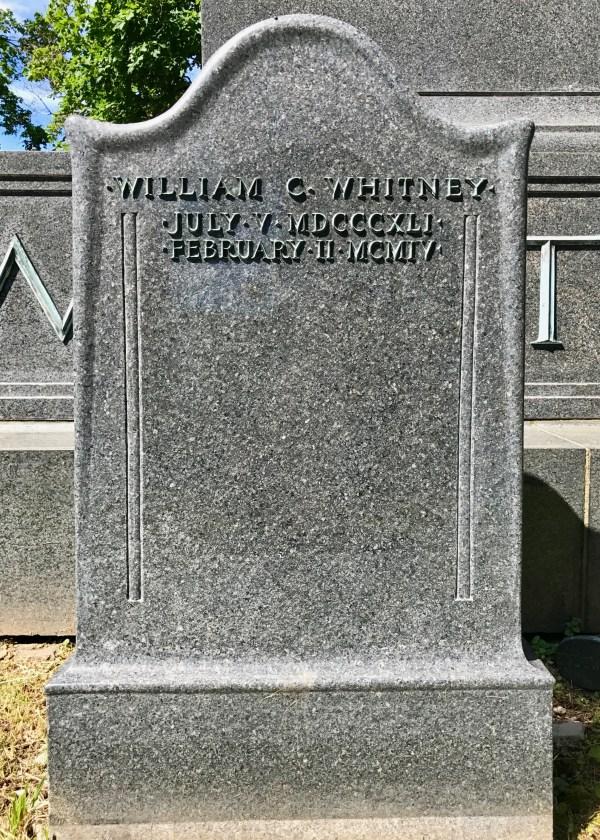 William Collins Whitney 1841 - 1904 Find Grave Memorial