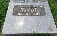 Headstone of Elizabeth Reese Ridenour