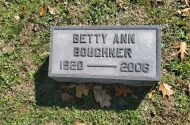 Headstone of Betty Anne Boughner