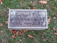 Headstone of Ada M. Young Brent