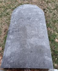 Headstone of Sarah Owens Born March 17, 1811 Died July 16, 1900