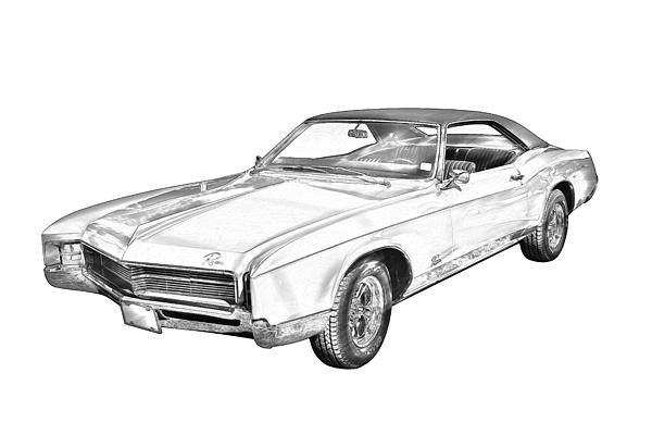1967 Buick Riviera Drawing by Keith Webber Jr