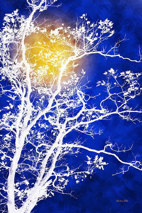 Blue Tree Art Prints for Sale