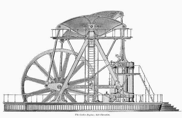 Corliss Steam Engine, 1876 by Granger