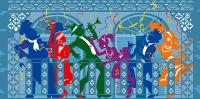 New Orleans Mardi Gras Balcony Greeting Card for Sale by ...