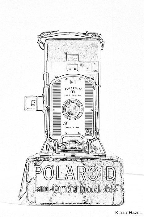 Polaroid Land Camera 95b Contour by Kelly Hazel