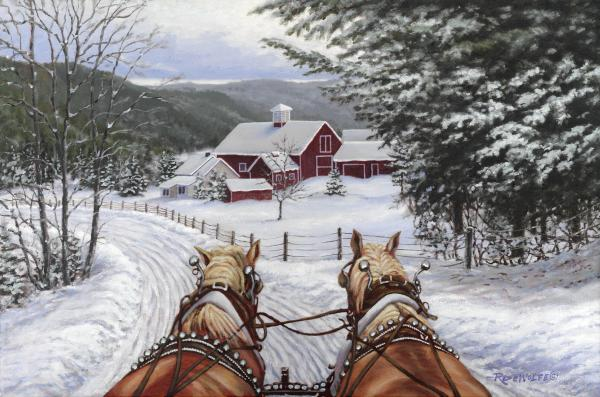 Sleigh Bells Greeting Card For Sale By Richard De Wolfe