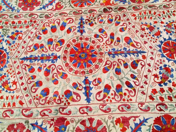 Iphone 5 Wallpaper Floral Vintage Central Asian Susani Tapestry On Hand Loom Woven