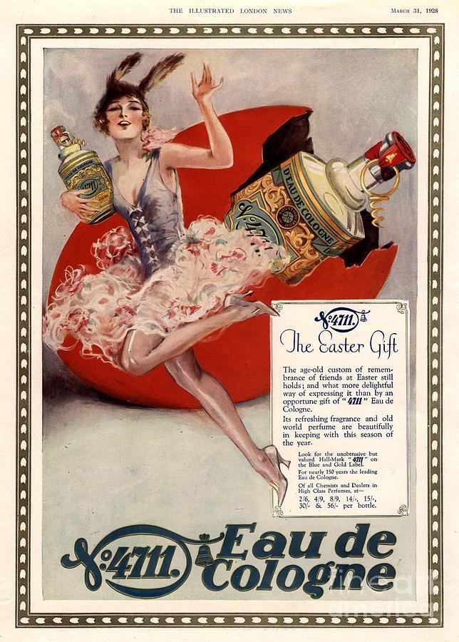 1928 1920s Uk 4711 Eau De Cologne Art Drawing By The