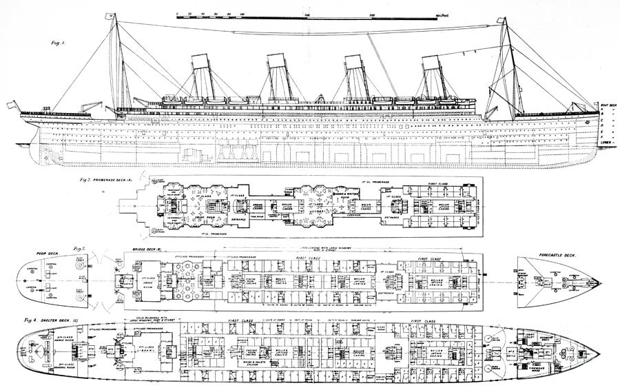 titanic boat diagram 2008 ford f450 trailer wiring inquiry into the loss of cross sections ship drawing by english school