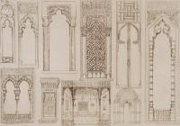 Islamic And Moorish Design For Shutters And Divans Drawing ...