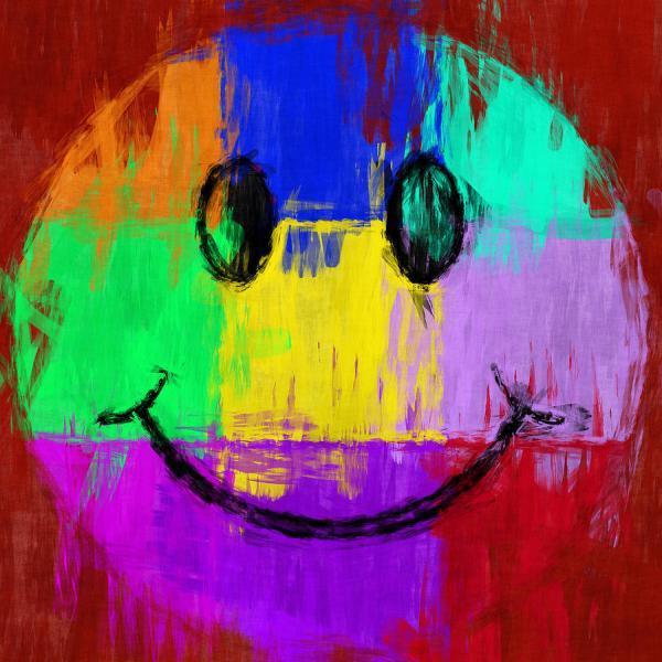 Digital Abstract Art Faces