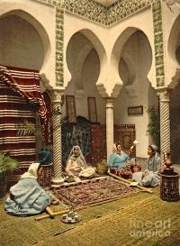 Algerian Carpet Makers 1899 Photograph by Padre Art