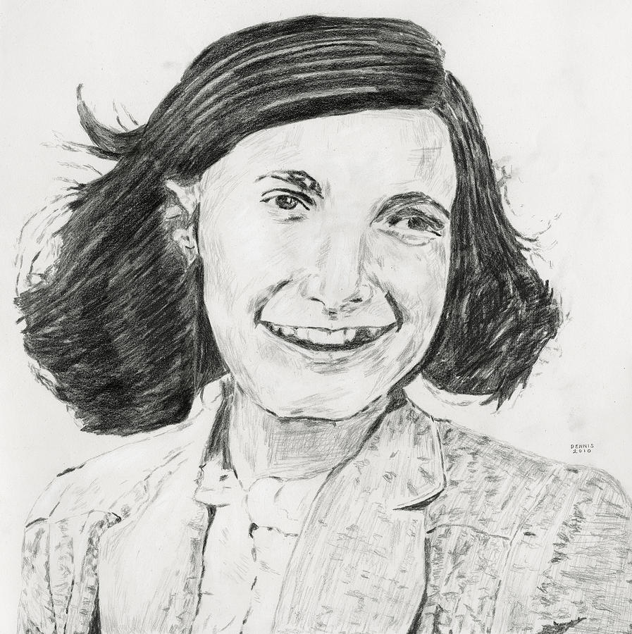 Anne Frank Drawing by Dennis Larson