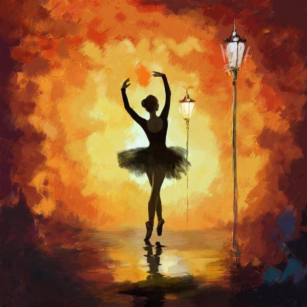 Ballerina Painting Ballet Dancer