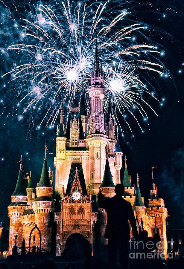 Fireworks Over Cinderellas Castle By Jonathan Virgie